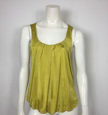 Maglia jersey maglietta M dorata donna usato luxury giallo senape estiva T1143