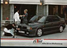 ATW-A 33 ALFA 33 <AUTO TECHNIK WIRTH) PROSPEKT (BROCHURE)