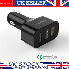 Orico Qualcom Quick Charge 3.0 35W 3 Ports USB Car Fast Charger Adapter 12V/ 24V