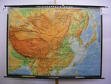 Schulwandkarte Wandkarte Karte Schulkarte China Peking Shanghai 215x158 1961 map