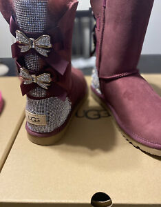Bedazzled Ugg Boots Size 8 Maroon