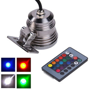 Remote Control RGB LED Underwater Fountain Pond Fish Tank Aquarium Lights Lamps