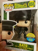 Funko POP Kato The Green Hornet 2019 SDCC Exclusive 856 Official Sticker IN HAND