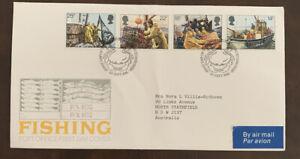 1981 Fishing British PO FDC Addressed Airmail Uk Edinburgh To Australia