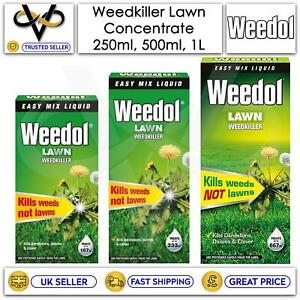 Weedol Concentrate Lawn Grass Weed Killer Assorted Range 250ml/500ml/1L