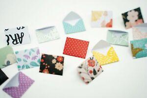 Cute Tiny Mini Printed Envelopes for Journaling, Scrapbook, Scrapbooking Planner