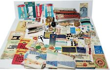 LOT#2 Vintage Sewing Notions: Buttons Thimbles Tools Crafts Supplies Darner +