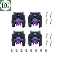 4 x Diesel Injector Plug / Electrical Connector Mercedes E 250 CDI Delphi Piezo