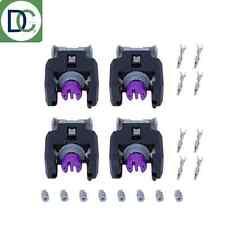 4 x Diesel Injector Plug / Electrical Connector - Mercedes C220 CDI Delphi Piezo