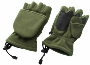 Trakker 207702 Polar Fleece Gloves, One Size - Green