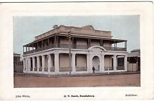 QN Bank, John White Postcards, Bundaberg, QLD C.B. & Co Graphic