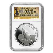 2012 Australian 1 oz Proof Silver Kangaroo Coin - PF-69 UCAM NGC - SKU #83789