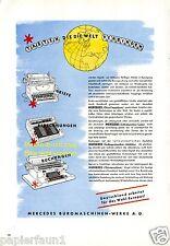 Rechenmaschine Mercedes XL Reklame von 1944 !!! Schreibmaschine calculator ad