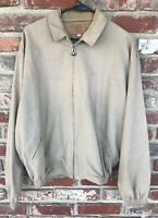 Vintage 90s BMW Lifestyle Men's XL Full Zip Tan Lightweight Jacket Made In USA