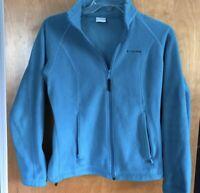 Women's Columbia Full Zip Fleece Jacket Size S Small EUC Teal Blue