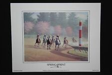 "SPRING SPRINT Print James Crow 9"" x 7"" Keeneland Lexington KY Starr Collection"
