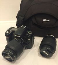 Nikon D D80 10.2MP Digital SLR Camera w/18-55mm and 55-200mm lenses and Bag