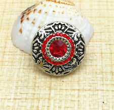 NEW Red Rhinestone Chunk Snap Button for Noosa Necklace Bracelet  Earring BUN73
