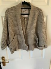 River Island Chunky Knitted Short Cropped Batwing Cardigan Top Size 8