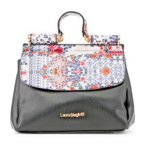 Laura Biagiotti Henkeltasche Damentasche Blumenmuster bag сумка