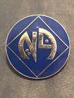 Vintage Masonic Mason Shriners Nile Association Lapel Pin NA Blue Silver