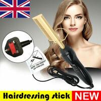 Fast Heated Electric Beard Hair Straightener Brush Comb Hair Curling Iron Hot UK