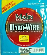 #11 Malin Hard-wire Stainless Steel Leader Wire LC11-42, .026 dia, 42 ft