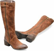 NEW BORN Poly Riding Boot, Tobacco Distressed Leather, Women Size 7.5, $240