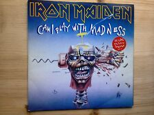 """Iron Maiden Can I Play With Madness Very Good 7"""" Single Record EM 49 P/S"""
