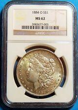 1884 O Morgan Dollar MS 62- NGC -  Certified - Graded - Free Shipping