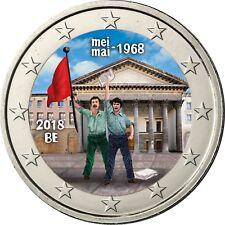 Belgien 2 Euro 2018 Studentenrevolte vom Mai 1968 Gedenkmünze in Farbe