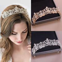 Lovely Princess Crystal Tiara Headband Kid Girls Bridal Prom Crown Wedding Party