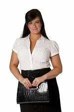 Collared Singlepack Plus Size Tops & Shirts for Women