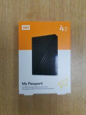 Western Digital 4TB My Passport Portable Hard Drive USB 3.0, Black - New
