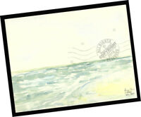 Rincon Waves Ventura 2014 Contemporary Art PAINTING SIGNED seascape watercolor
