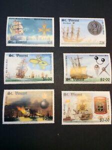 St. VINCENT (91) 1988 Sailing ships set MNH Scott #1100/1105 cv ~$8