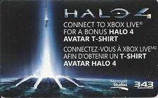 DLC Rare Halo 4 Avatar T-shirt Code Card Microsoft Xbox 360 Live