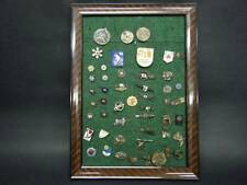 HUGE SKI and OLYMPIC PIN / BADEG COLLECTION in A FRAME