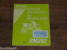 MANUEL REVUE TECHNIQUE D ATELIER SUZUKI RM 250 1996 -> RM250 250RM