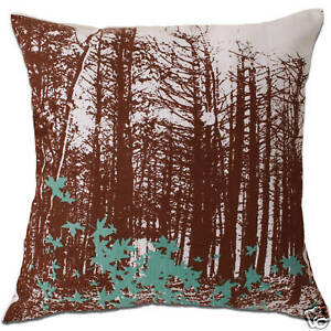 forest maple leaf tree cushion cover