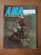 AMA News American Motorcycle Magazine June 1973 - Harley-Davidson X-90 Ad