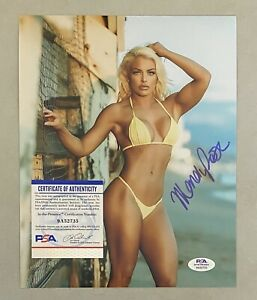 Mandy Rose Signed 8x10 WWE Photo Autographed PSA/DNA COA