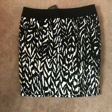 The Limited Collection Straight Pencil Skirt Size 14 Side Zip Black/White Lined