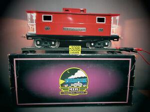 MTH Standard Gauge Tinplatel #217 Red w/ Nickel Trim Caboose 10-1054 O.B. C-8.