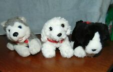 Build A Bear Lot of 3 Miniature dogs with magnet Husky Maltese Border Collie