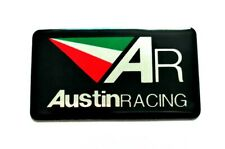 AUSTIN RACING 3D HEATPROOF EXHAUST BADGE STICKER GRAPHIC DECAL SILENCER AR