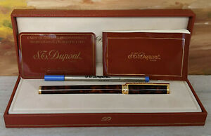 S.T. Dupont Montparnasse Lacquer with Gold Trim Rollerball Pen, NOS!