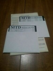 """MTD branded MS-DOS 5.0 on 1.2MB 5.25"""" Floppy Disks - tested and working"""