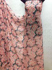 Designer Multicolour Rose Floral Print Chiffon Fabric wedding light