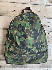 Vintage 1980s 1990s Rush Creek Nylon Frogskin Camo Backpack